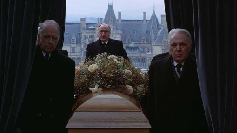 President giving Rand's eulogy