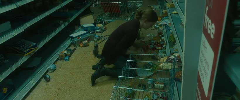 Empty grocery store shelves - a common post-apocalyptic trope